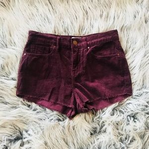 Kendall and Kylie Burgundy Shorts Size 25